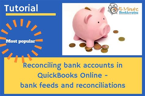 Credit Card Account In Quickbooks Reconciling Accounts In Quickbooks Online 5 Minute