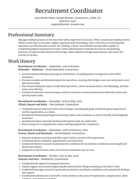 clinical research coordinator resumes