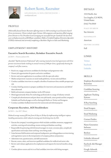 Recruiter Job Resume Objectives Resume Objective What Not To Say In A Resume Objective