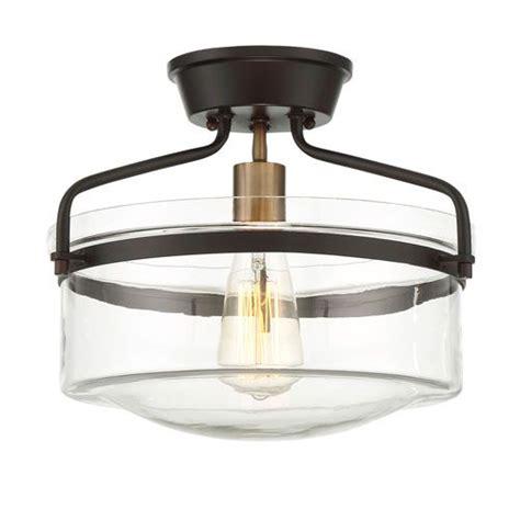 Red Hook 1 Light Cylinder w/ Flat Rim Drum Flush Mount