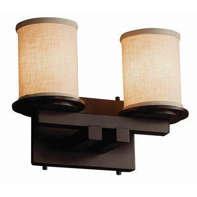 Red Hook 2 Light Cylinder w/ Flat Rim Vanity Light