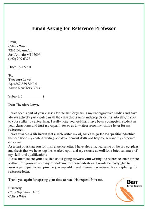 Reference Letter For Ex Coworker Asking For An Employment Reference Letter