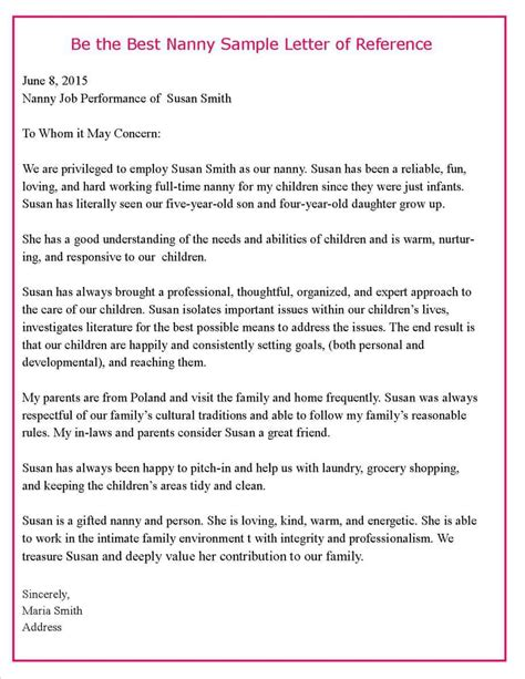 Reference Letter For Nursery Nurse Nanny Define Nanny At Dictionary