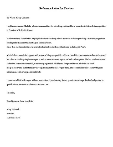 Reference Letter Teacher Assistant Teacher Assistant Recommendation Letter Livecareer