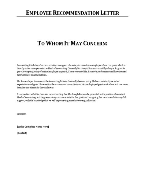 Reference Letters For An Employee Employment Reference Letter Written By A Manager