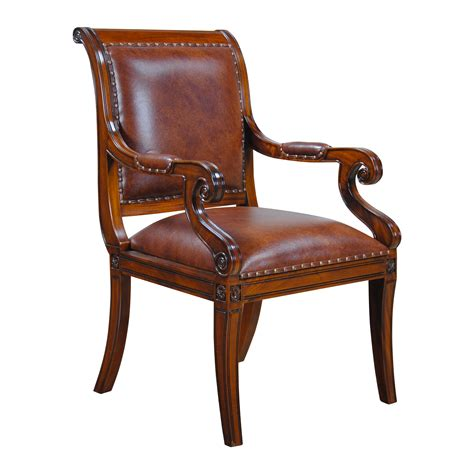Regency Top Grain Leather Armchair