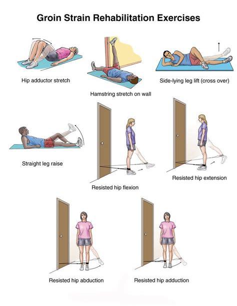 rehab exercises for groin pain hip flexor pain relief