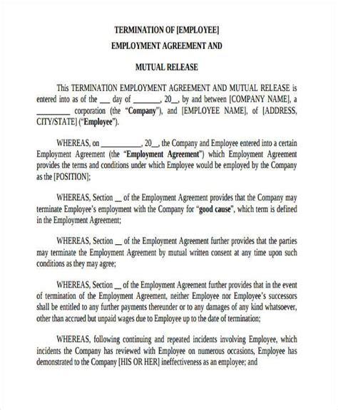 Release Form Employment Termination Employment Termination Release Template Form An Llc Or