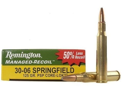 Ammunition Remington 30 06 Managed Recoil Ammunition.