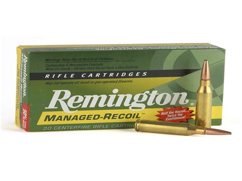 Ammunition Remington Managed-Recoil Ammunition 308 Winchester.