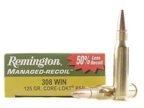 Ammunition Remington Managed-Recoil Ammunition 308 Winchester 125 Grain.
