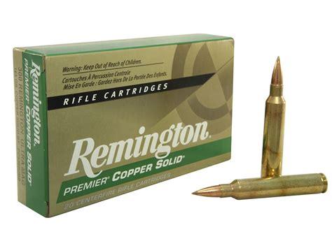 Ammunition Remington Premier Copper Solid Rifle Ammunition.