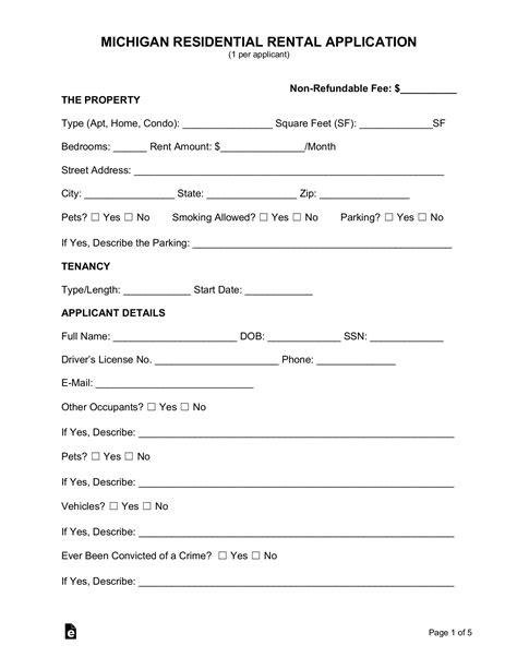 rental application form word doc