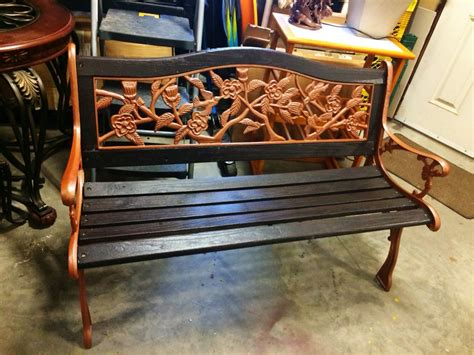 Repainting A Wooden Bench