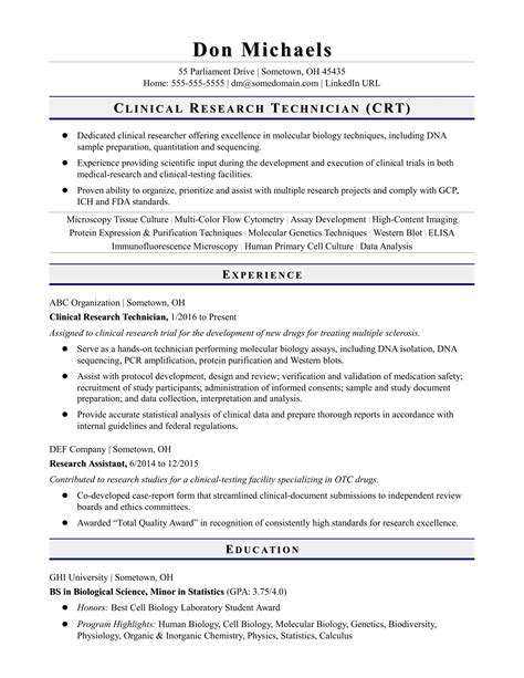 sample resume research assistant research assistant resume sample template monsterca - Sample Resume Research Assistant