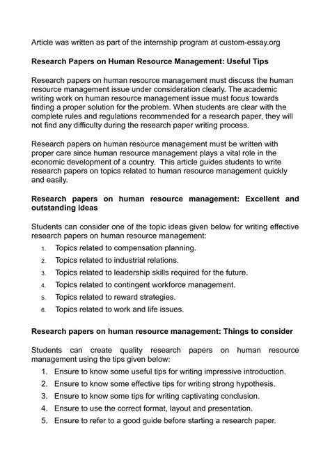 A Modest Proposal Ideas For Essays Free Human Resources Essays Research Paper On Human Resource Management  Free Hit Mebel Com Essay Cover Essays About Health also Essay Of Newspaper Essays  Research Paper Techniques In High School  Education Free  Essay English Example