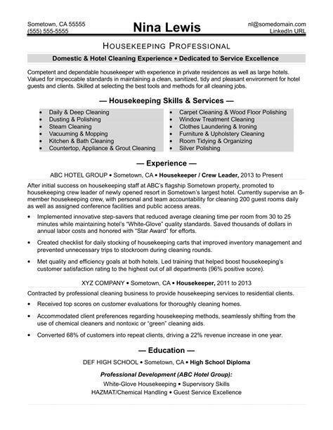 Residential Housekeeping Resume Samples Residential Aide Resume Samples Jobhero