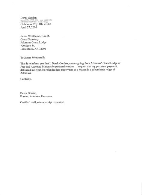 Resignation Letter From Employer Free Resignation Letter Examples A Collection Of