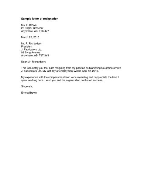 resignation letter sample career advancement resignation letter sample template examples formal