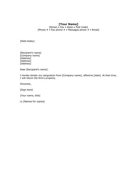 Resignation Letter To Supervisor The Resignation Letter 1st Writer