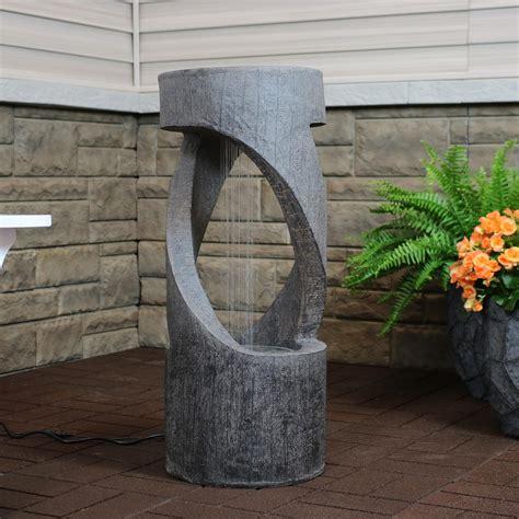 Resin Spiraling Waterfall Outdoor Fountain