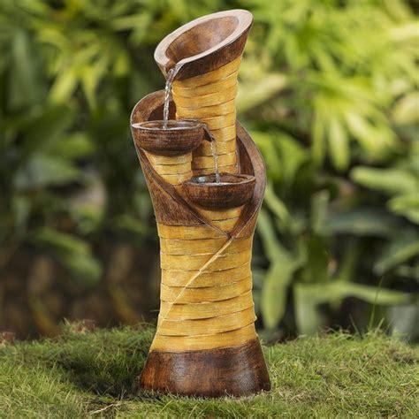 Resin/Fiberglass Turmpet Shape Water Fountain