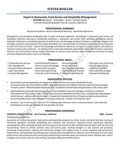 restaurant consultant resume examples motivation definition thesis