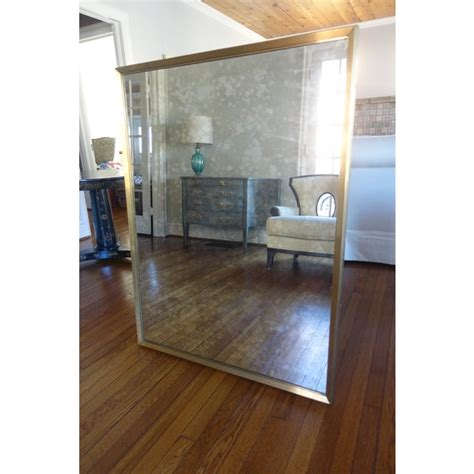 Brass Restoration Hardware Brass Mirror.