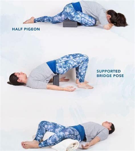 restorative yoga hip flexor stretches