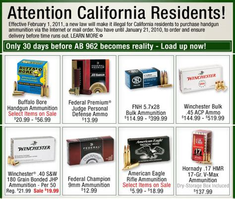 Ammunition Restrictions On Mail Order Ammunition California.