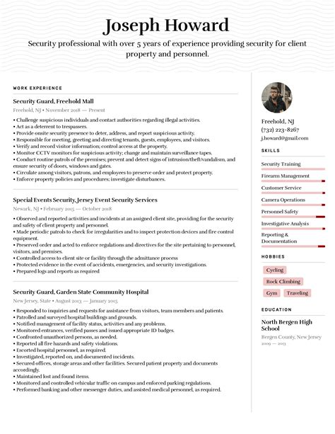 objective information security resume