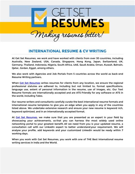 It resume writing service
