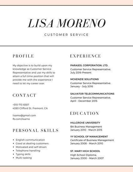 resume action words customer service resume format for usa jobs