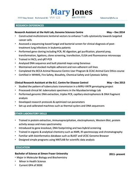Resume Biochemistry Student Biochemistry And Molecular Biology Phd Michigan