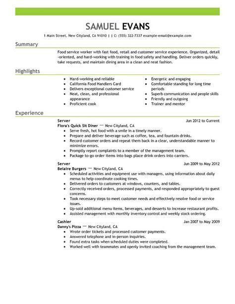 resume builder fast food best practice resume length