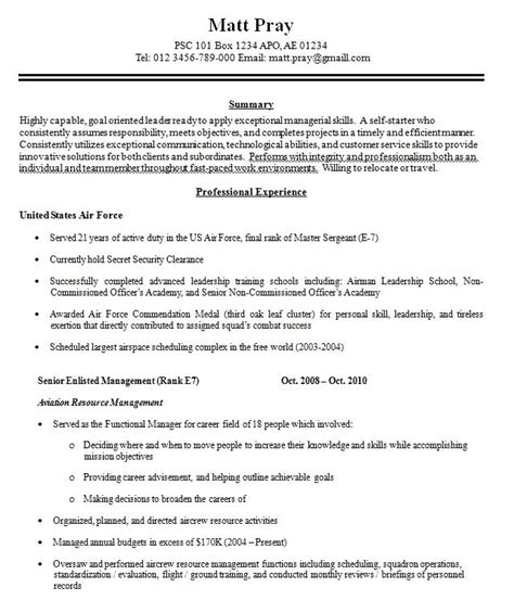 military resume builder free