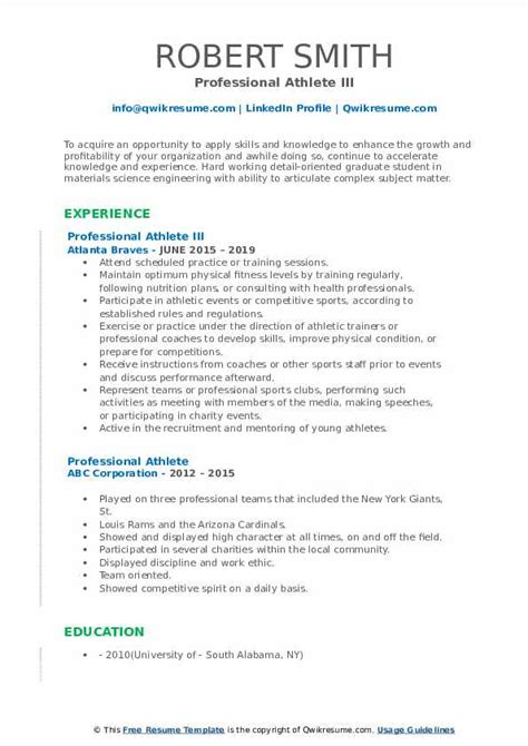 Resume Builder For Teens Professional Athlete Cv Template Resume Now