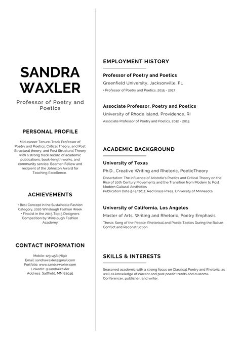 Resume Builder Worksheet Sample Resume Templates Web Design