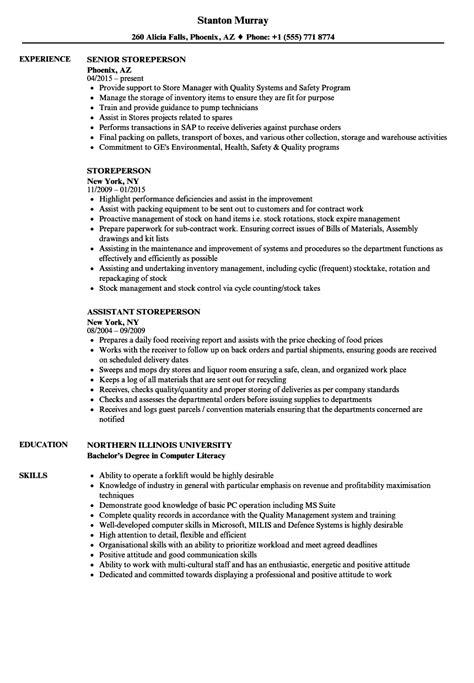 Resume Builder Qld Storeperson Resume Samples Jobhero