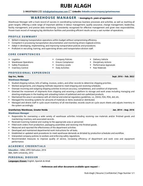 resume builder yahoo warehouse supervisor resume sample two logistics resume