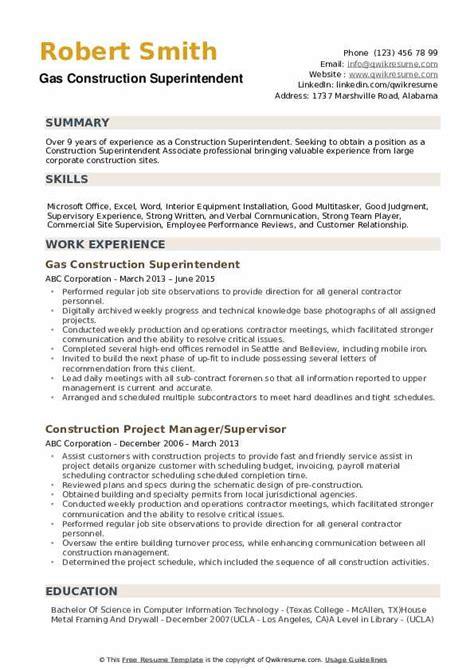 resume building superintendent cover letter construction superintendent cover letter for resume building superintendent resume superintendent cover letter