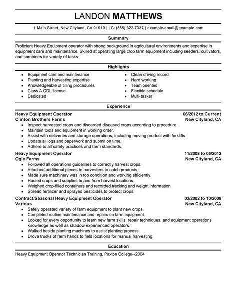 forklift operator sample resumes