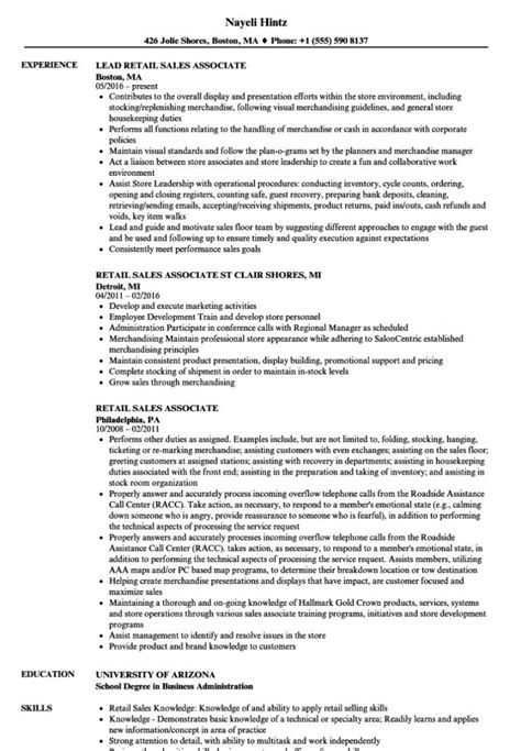 resume bullet points for retail sales retail sales associate resume sample writing guide rg