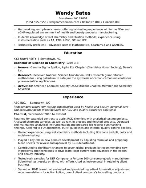 Recruiter Resume Sample Excel Chemist Resume Template Postdoc Application Cover Letters Entry  Resumes With No Work Experience Word with Layout Of Resume Word Resume Chemistry Entry Level Entry Level Chemist Resume Sample Monster Free Resume And Cover Letter Builder Pdf