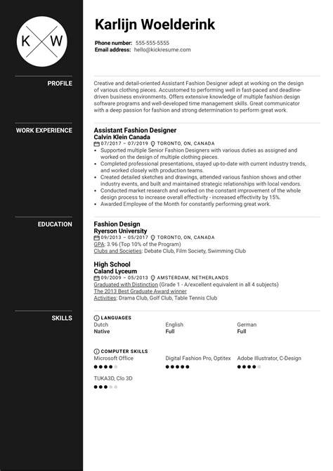 resume cover letter for fashion designer assistant fashion designer resume career faqs - Assistant Fashion Designer Cover Letter
