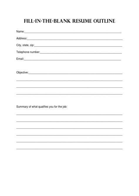 resume for returning to work