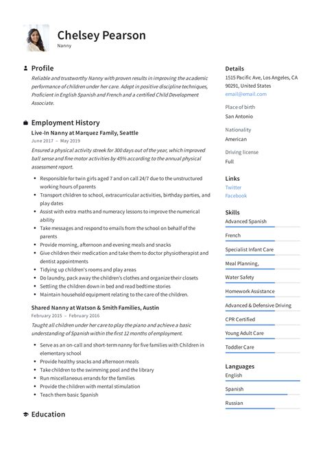 Resume Cover Letter For Nanny Accounting Resume Outline - Cover letter for nanny