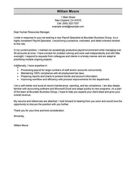 resume cover letter payroll specialist legal mandate letter sample - Resume Mandate Letter Template