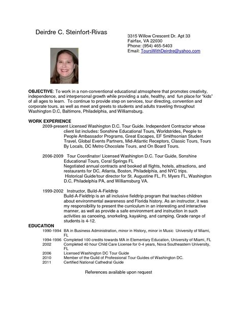 resume cover letter examples for tour guide tour guide samples cover letters livecareer