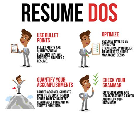 resume do and don ts 2014 recommendation letter for employee